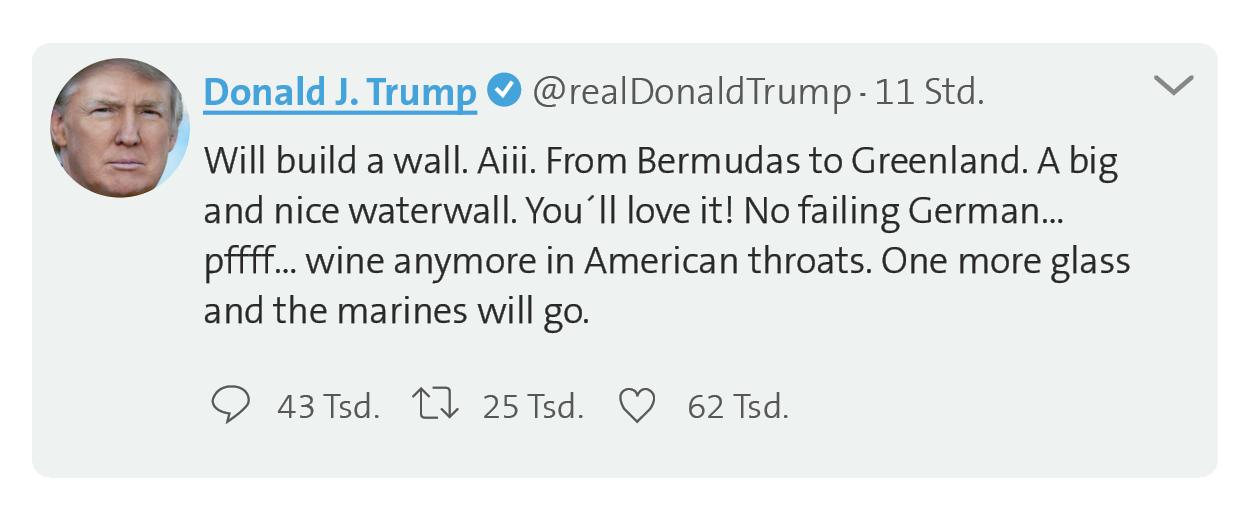 Twitter Trump - Wall